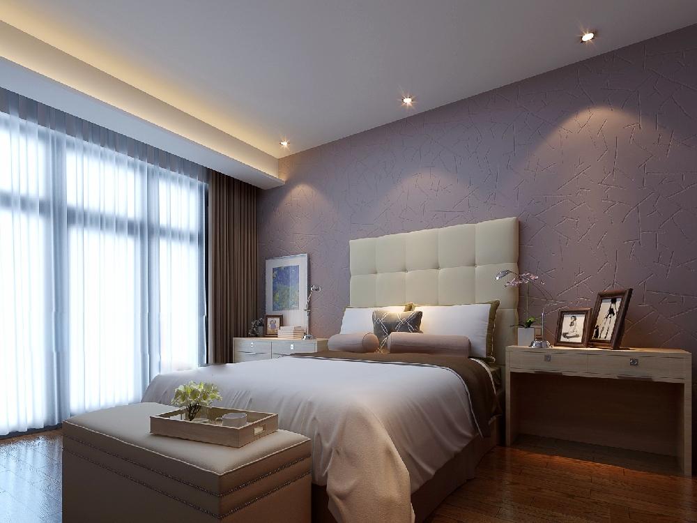 酒店装修客房硅藻泥装修效果图