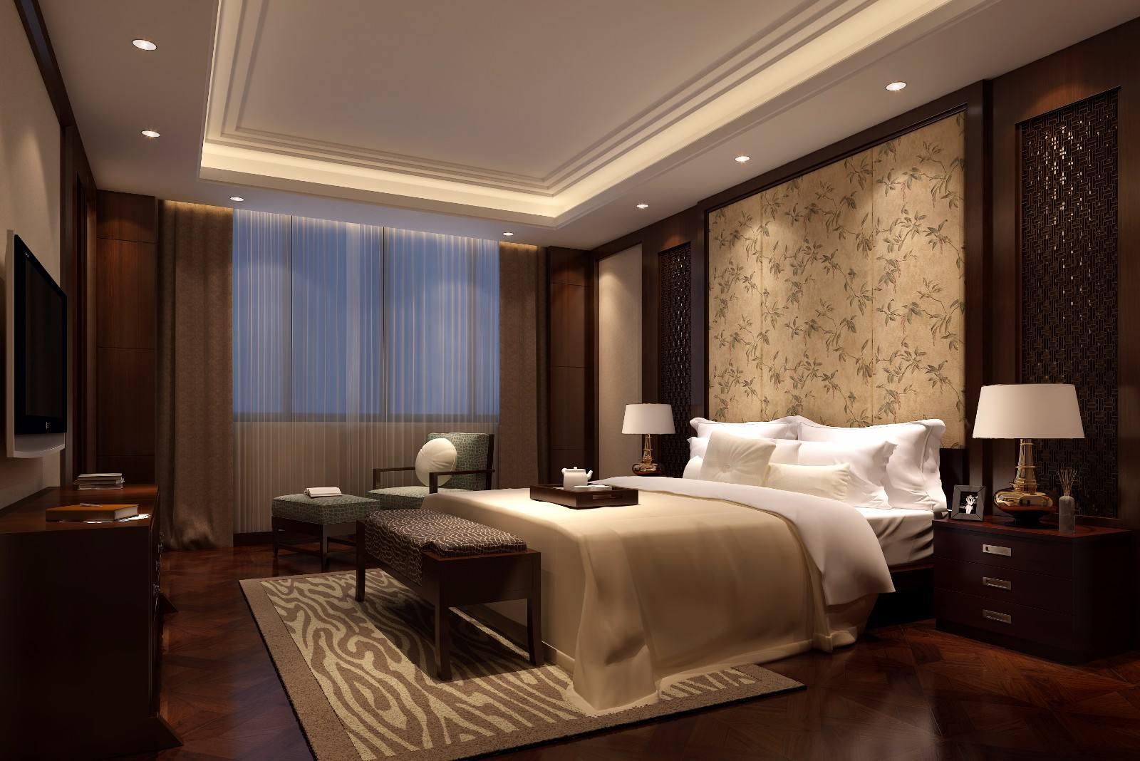 酒店客房石膏板吊顶装修效果