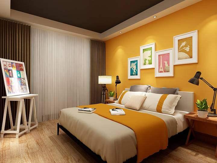 有关酒店装修中的客房床头背景墙设计说明