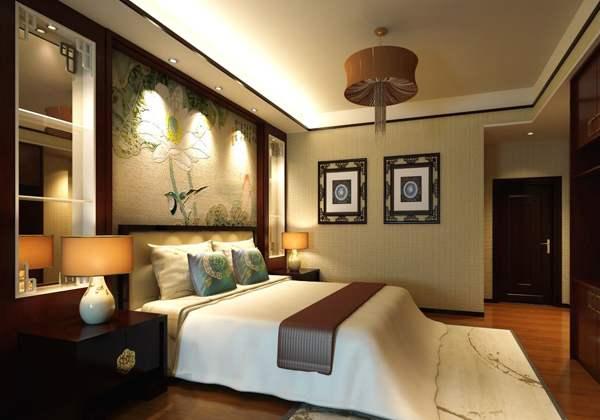 中式风格酒店客房装修效果图
