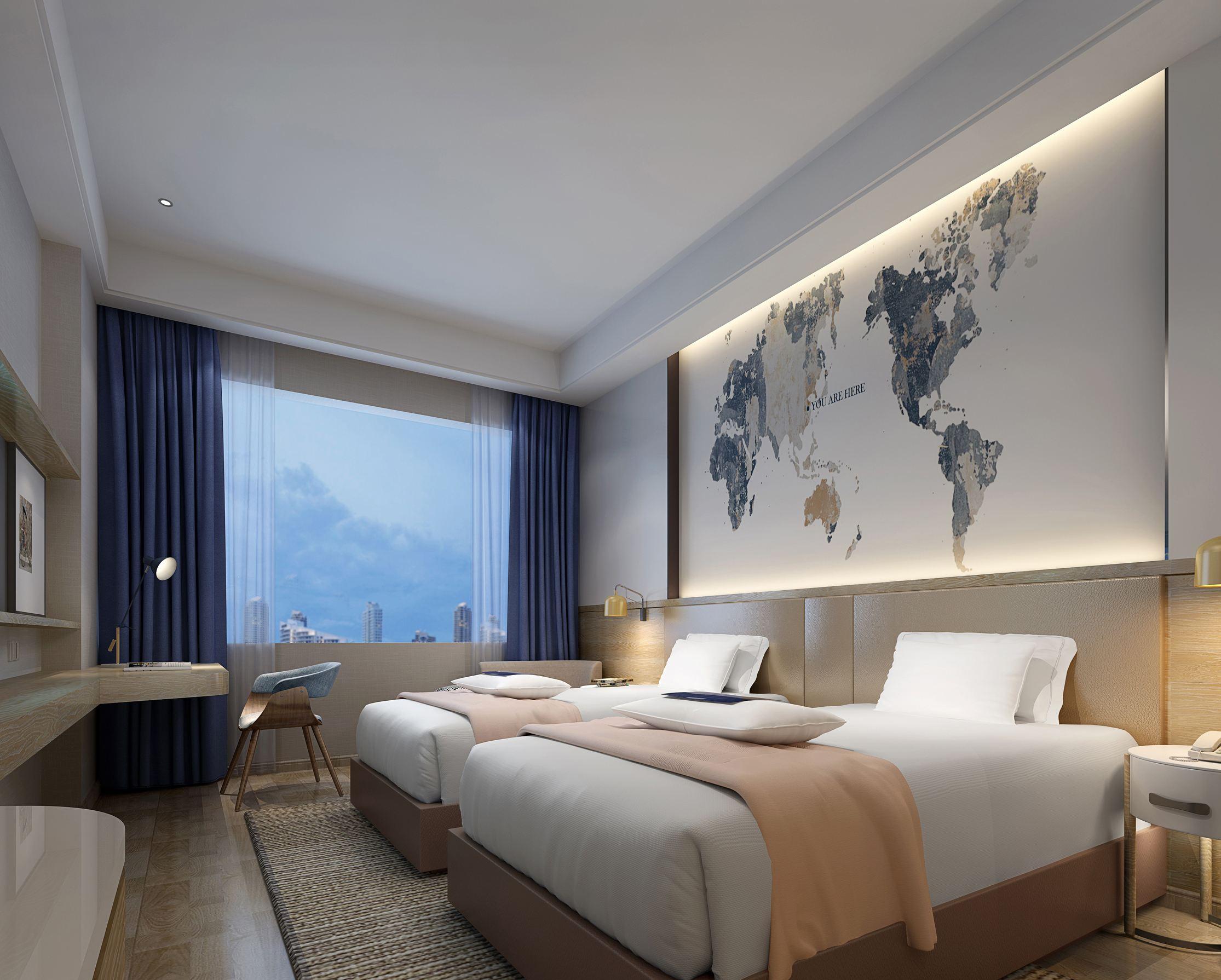 酒店客房装修壁纸效果图