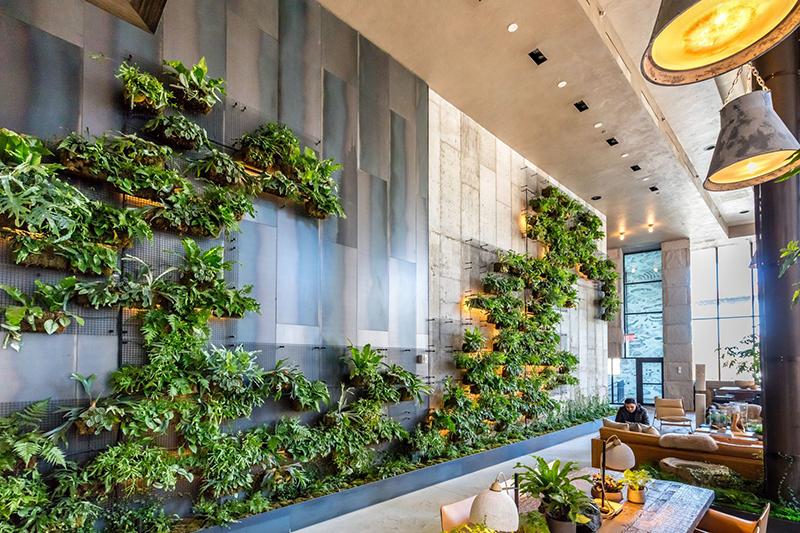 现代轻奢风格酒店大厅背景墙效果图