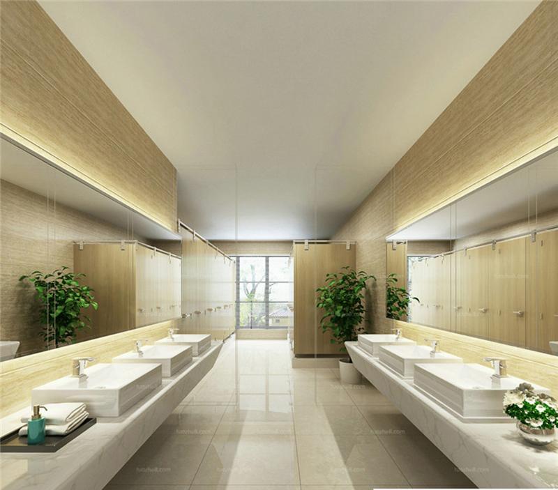 现代轻奢风格酒店卫生间效果图