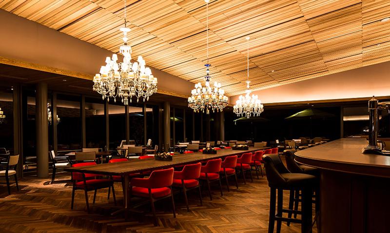 现代轻奢风格酒店餐厅效果图