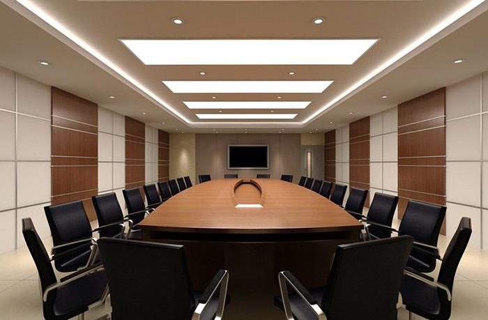 高端商务办公室会议室装修效果