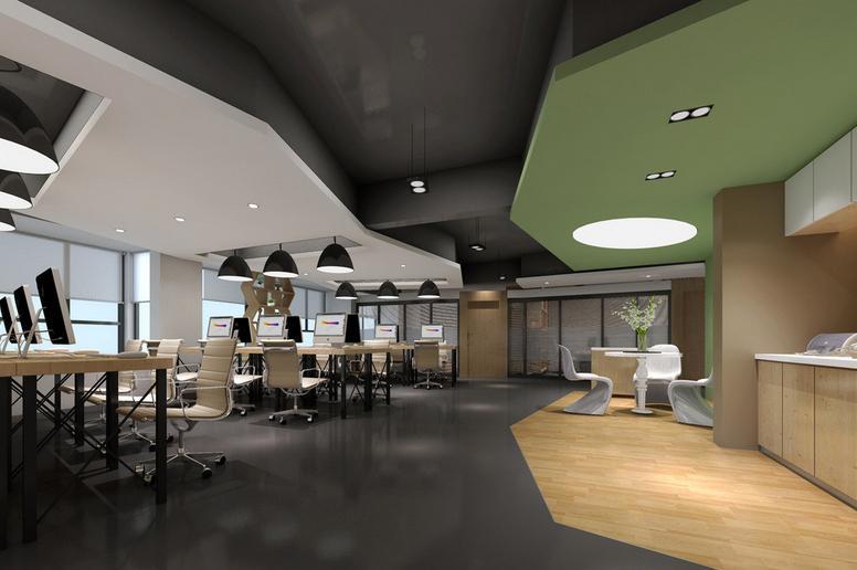 300平方敞开式办公室装修效果图
