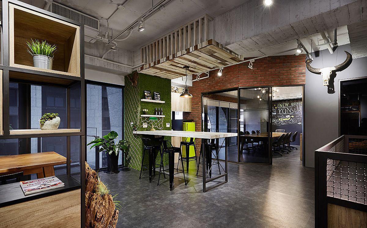 工业风格办公室装修设计效果图